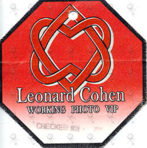 COHEN-- LEONARD - Australian Tour Photo Pass