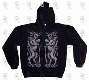 CONVERGE - Black 'Demons' Design Zip-Up Hoodie - 1