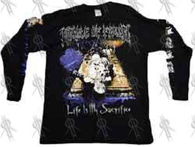cradle of filth 39 life is my sacrifice 39 black long. Black Bedroom Furniture Sets. Home Design Ideas