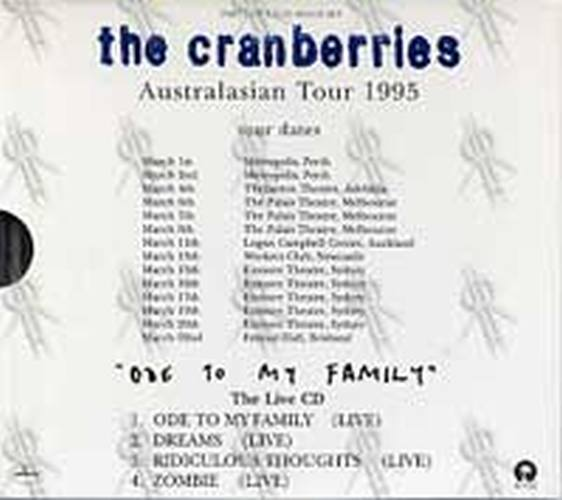CRANBERRIES-- THE - Ode to My Family - 2