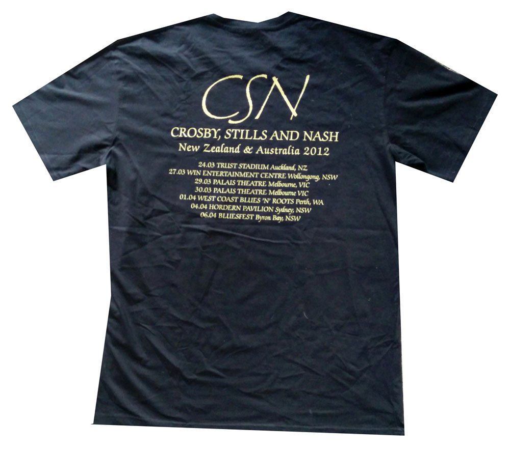 CROSBY, STILLS & NASH - 2012 Australia / New Zealand Black Tour T ...