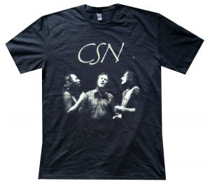 CROSBY-- STILLS & NASH - 2012 Australia / New Zealand Black Tour T-Shirt - 1