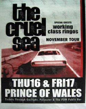 CRUEL SEA-- THE - Prince Of Wales Thur 16th & Fri 17th 2000 Gig Poster - 1