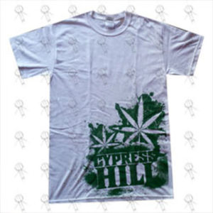 CYPRESS HILL - 'Dope Leaf' Design White T-Shirt - 1