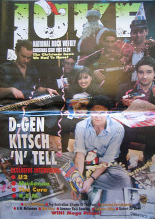 D-GENERATION-- THE - 'Juke' - Christmas Issue 1992 - D-Generation On Cover - 1