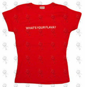 DAVID-- CRAIG - Red 'Whats Your Flava?' Girls T-Shirt - 1