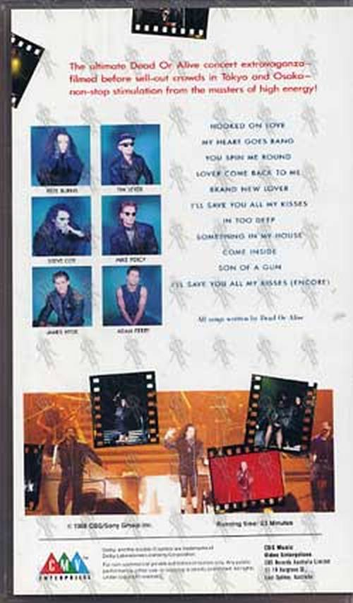 Dead Or Alive Rip It Up Live Video Tapes Rare Records