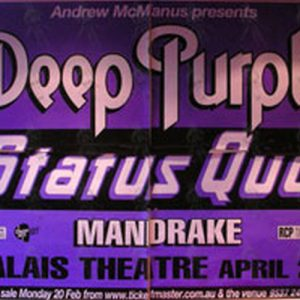 DEEP PURPLE|STATUS QUO - Palais Theatre  Melbourne