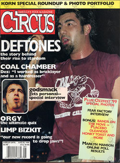 DEFTONES - 'Circus' - 24th August 1999 - Chino Moreno On Cover - 1