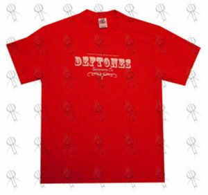 DEFTONES - Red Logo T-Shirt - 1