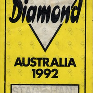 DIAMOND-- NEIL - Unused Australia 1992 Stage Hand Cloth Sticker Pass - 1