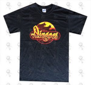 DINGOES-- THE - 'Five Times the Sun' 2010 Design Black T-Shirt - 1