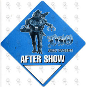 DIO-- RONNIE JAMES - Blue 'Angry Machines' World Tour 1997 After Show Pass - 1