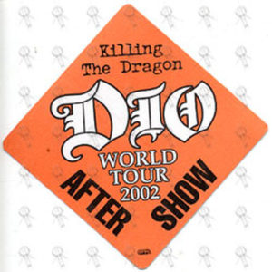 DIO-- RONNIE JAMES - Orange 'Killing The Dragon' World Tour 2002 After Show Pass - 1