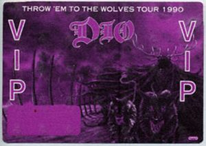 DIO-- RONNIE JAMES - Purple 'Killing The Dragon' World Tour 2002 VIP Pass - 1