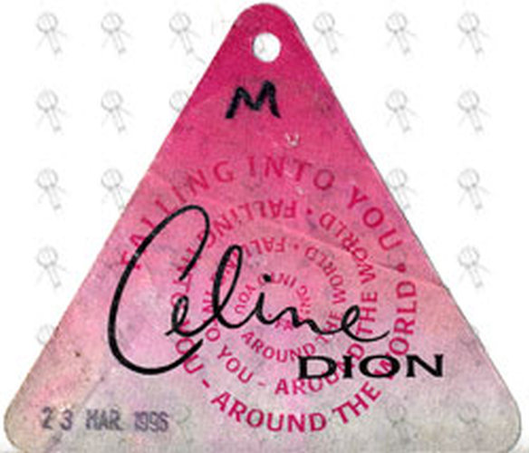 DION-- CELINE - 'Falling Into You Around The World' Used Working Cloth Sticker Pass - 1