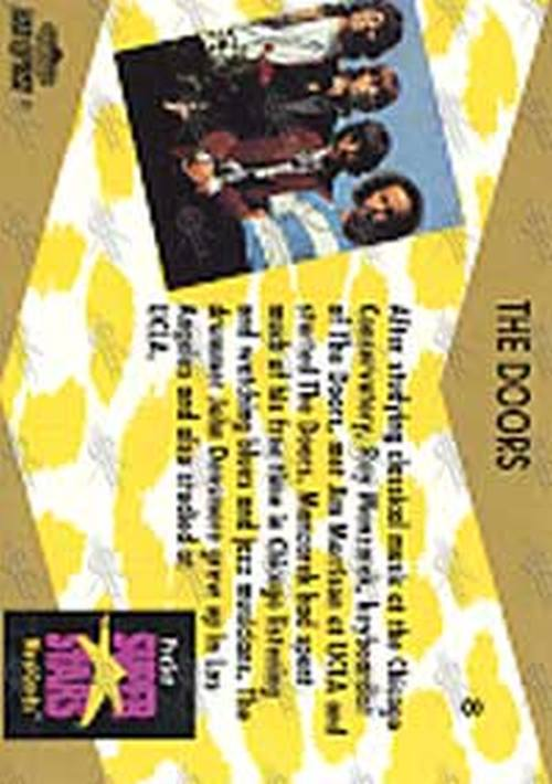 DOORS-- THE - Super Stars MusiCard Collector Card - 2