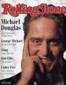 DOUGLAS-- MICHAEL - 'Rolling Stone' - March 1988 - Michael Douglas On Cover - 1
