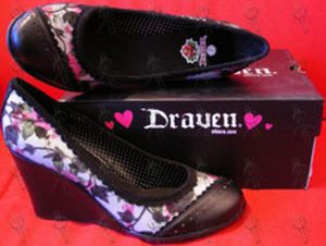 DRAVEN - Black 'Angelica' Women's Wedge Shoes - 1