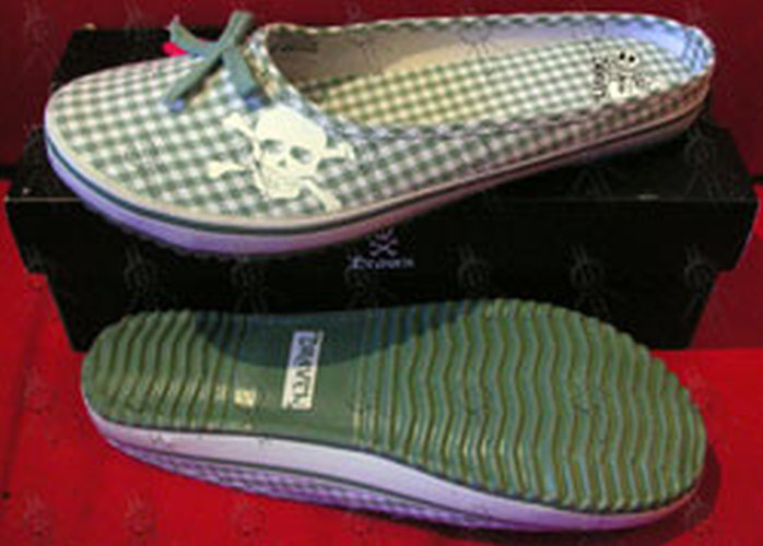 DRAVEN - Green 'Plaidical' Women's Slides - 1