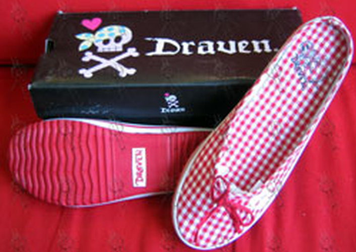 DRAVEN - Red 'Plaidical' Women's Slides - 1