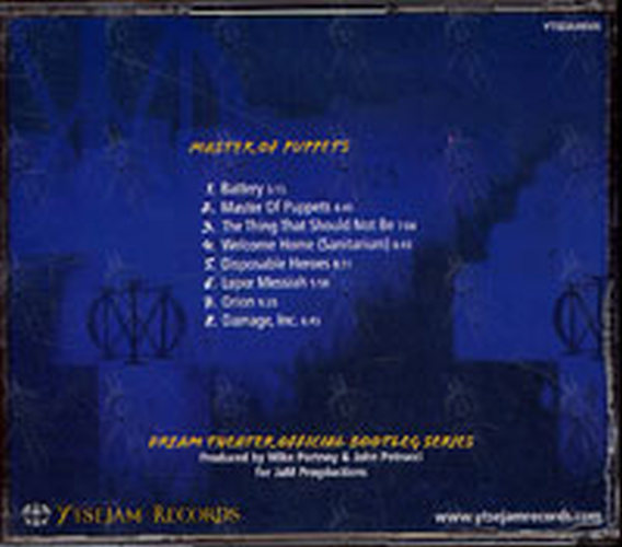 DREAM THEATER - Official Bootleg: Master Of Puppets (Album, CD) | Rare  Records