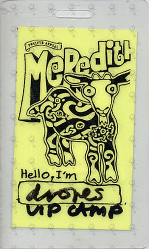DRONES-- THE - Meredith Music Festival VIP Camp Laminate - 1