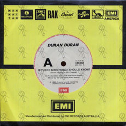 DURAN DURAN - Is There Something I Should Know? - 1