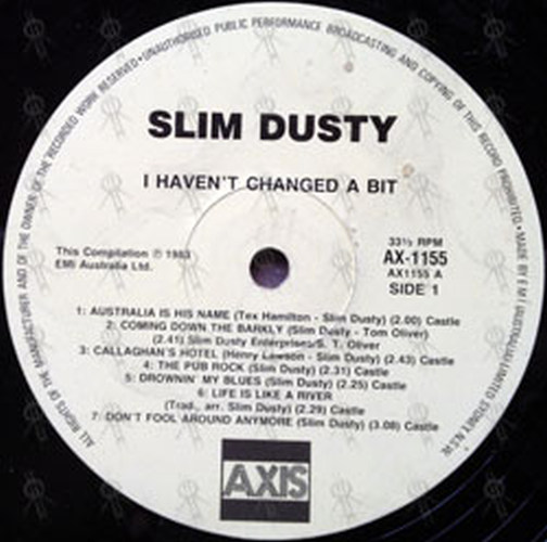 Dusty Slim I Haven T Changed A Bit 12 Inch Lp Vinyl