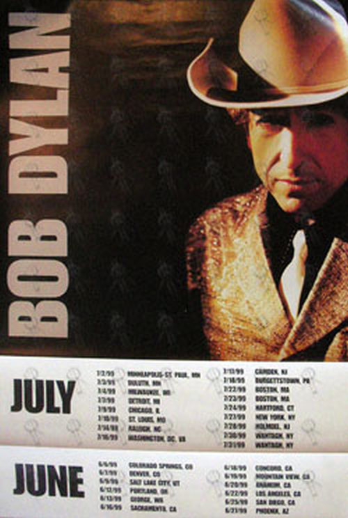 DYLAN-- BOB - Double Sided 1999 US Tour Poster - 1