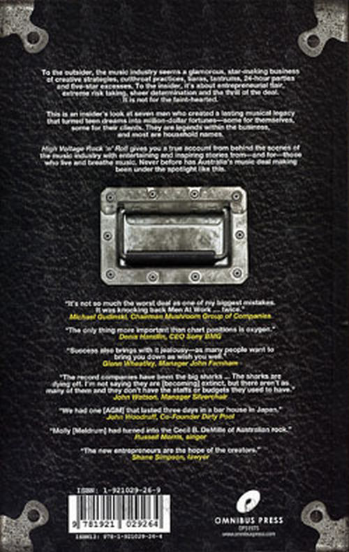 ELIEZER-- CHRISTIE - High Voltage Rock 'N' Roll: The Movers And Shakers In The Australian Rock Industry - 2