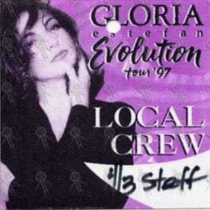 ESTEFAN-- GLORIA - 'Evolution' 1997 Tour Local Crew Pass - 1