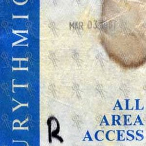 EURYTHMICS - 'Revenge' 1986 World Tour All Area Access Pass - 1