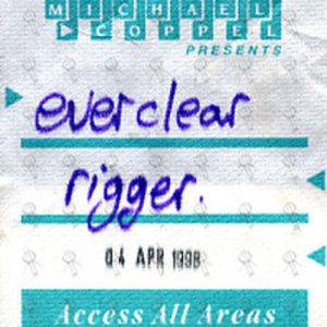 EVERCLEAR - Access All Areas Cloth Sticker Pass - 1