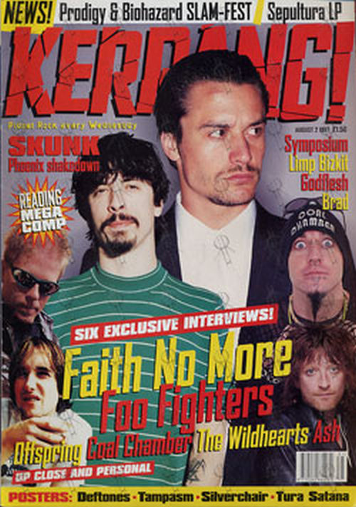 FAITH NO MORE FOO FIGHTERS - 'Kerrang!' - 2nd August 1997 - Mike Patton & Dave Grohl On Cover - 1