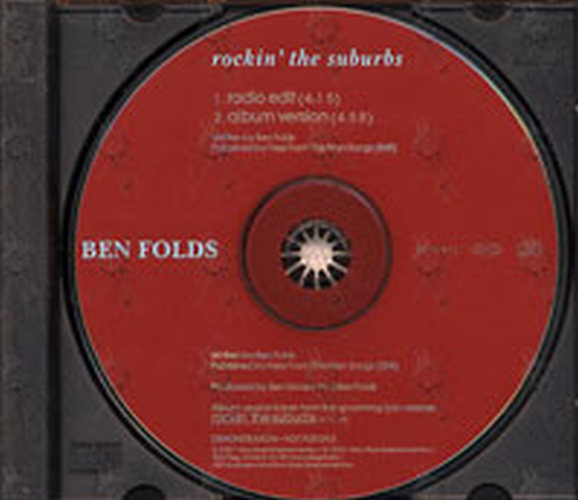 Folds Ben Rockin The Suburbs Album Cd Rare Records