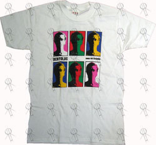 FOLDS-- BEN - White 'Songs For Silverman' Australian 2005 Tour T-Shirt - 1