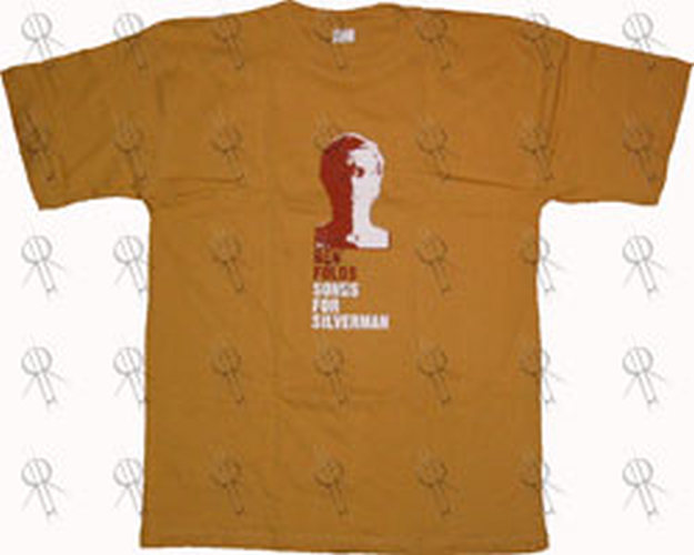 FOLDS-- BEN - Yellow 'Songs For Silverman' Australian 2005 Tour T-Shirt - 1