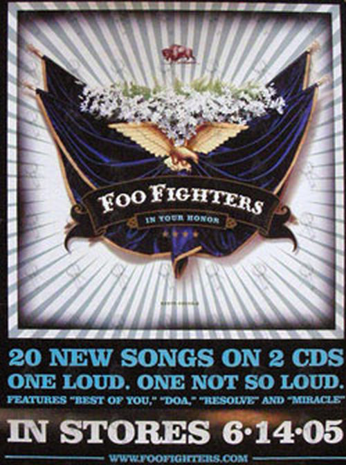FOO FIGHTERS - 'In Your Honour' Promo Poster - 1