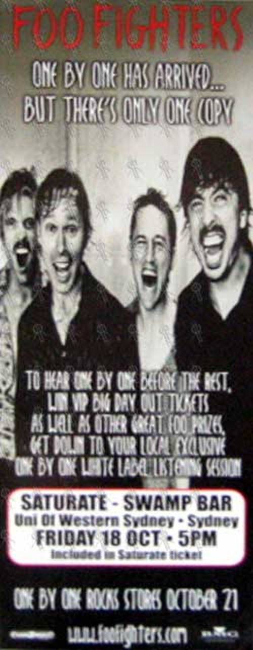 FOO FIGHTERS - One By One Poster - 1