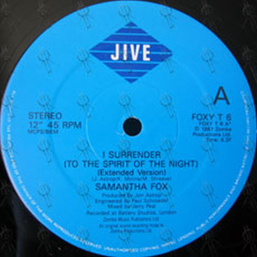 FOX-- SAMANTHA - I Surrender (To The Spirit Of The Night) - 3