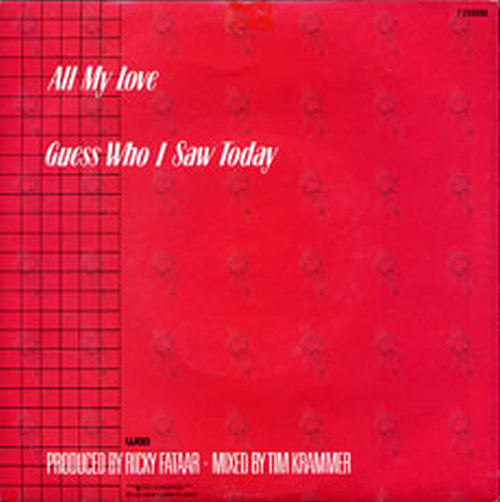 GEYER-- RENEE - All My Love - 2