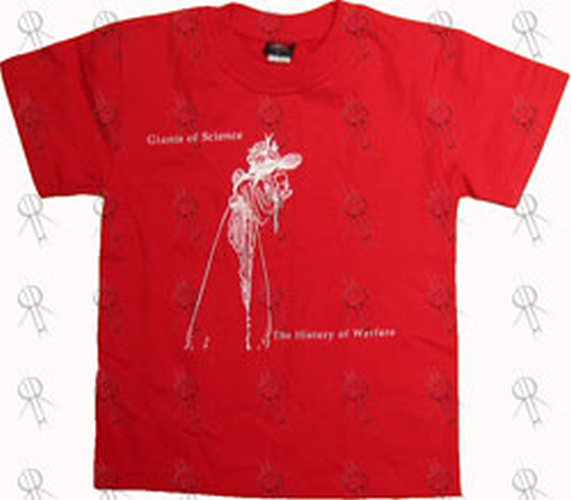 GIANTS OF SCIENCE - Red 'History Of Warfare' World Tour T-Shirt - 1