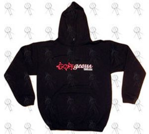 GOREGEOUS THREADS - Black 'Bullet Hole' Design Hoodie - 1