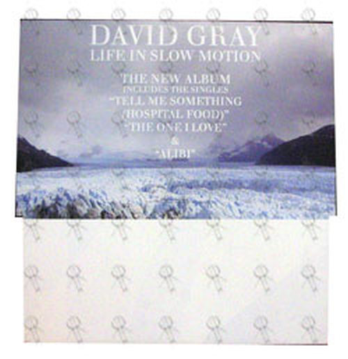 GRAY-- DAVID - 'Life In Slow Motion' Promo Dump Bin Rack Display - 1
