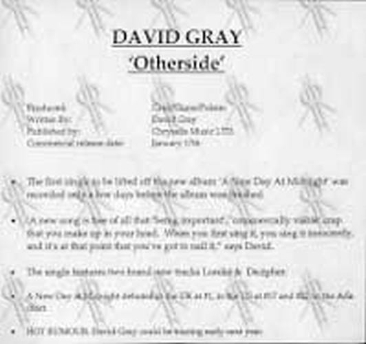 GRAY-- DAVID - The Other Side - 3