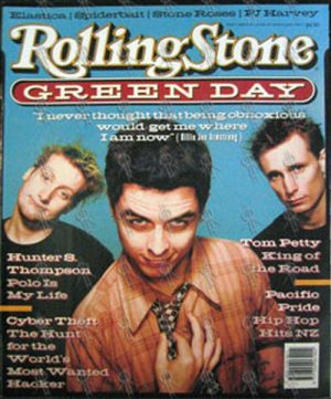 GREEN DAY - 'Rolling Stone' - June 1995 - Green Day On Cover - 1