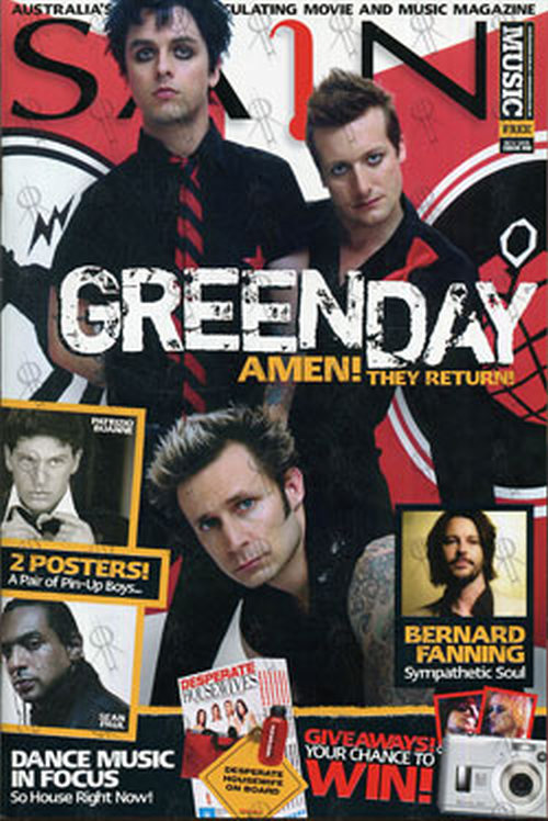 GREEN DAY - 'Sain' - November 2005 - Green Day On Cover - 1