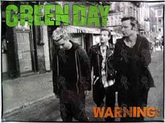 GREEN DAY - u0026#39;Warningu0026#39; Album Poster (Posters, Regular Sizes) : Rare Records