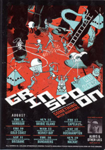 GRINSPOON - QLD 2007 Tour Flyer - 1